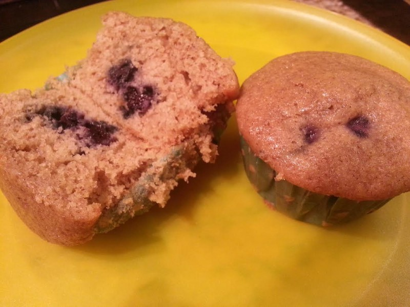blueberry maple bran muffin